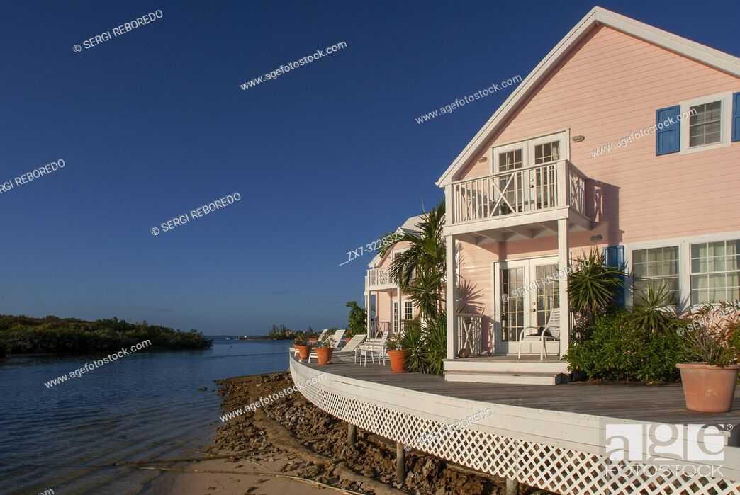 Stock Photo: Typical loyalist house, Hope Town, Elbow Cay, Abacos. Bahamas.