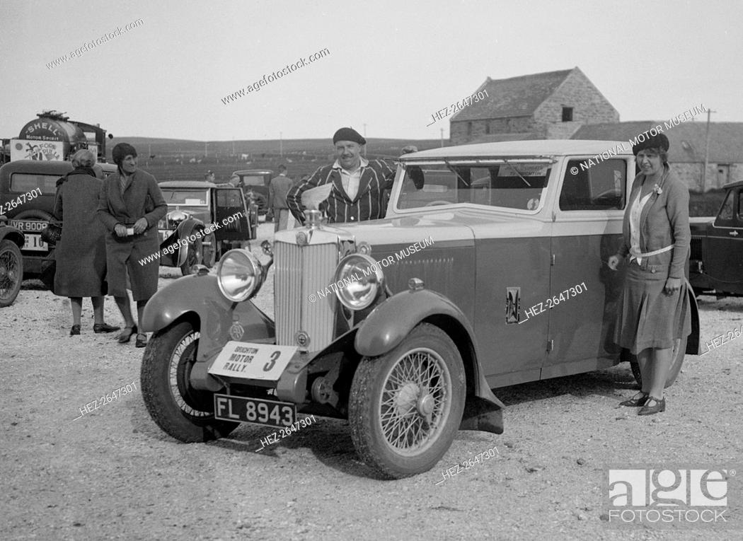 Stock Photo: MG 18/80 saloon of Mrs R Gough at the B&HMC Brighton Motor Rally, 1930. Artist: Bill Brunell.