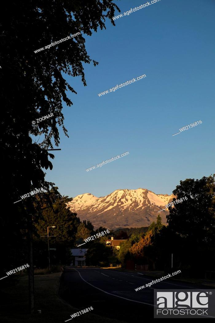Stock Photo: Ruapehu mountain.