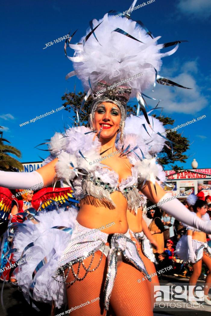 Stock Photo: Carnival in Santa Cruz de Tenerife.