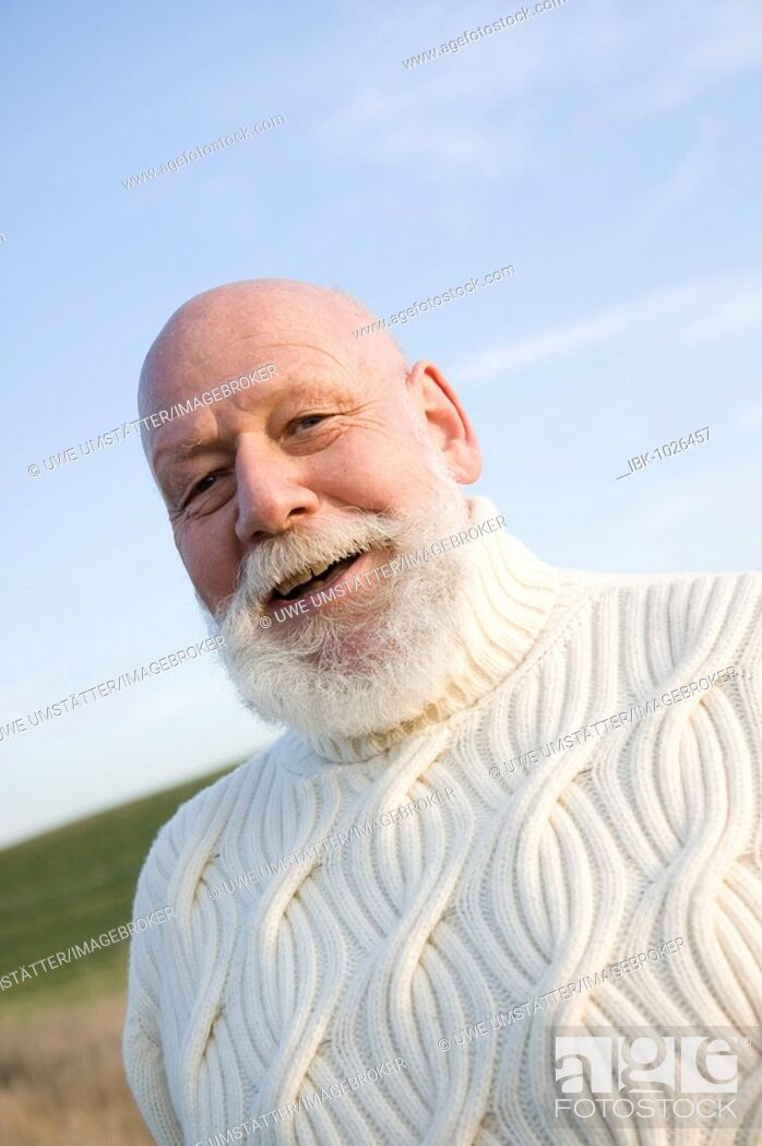 Stock Photo: Smiling senior citizen.