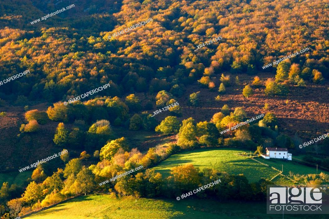 Stock Photo: Baztan Valley, Baztan, Elizondo Baztan, Navarra Nafarroa, Spain España.
