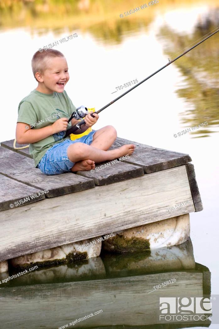 Stock Photo: Joy of the Catch.
