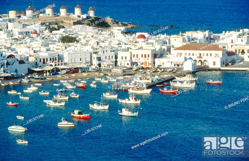 Stock Photo: Mykonos. Cyclades. Greece.