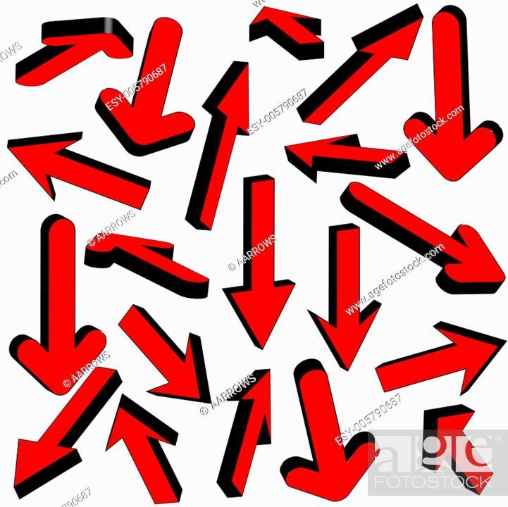 Stock Vector: Vector set of red arrows.