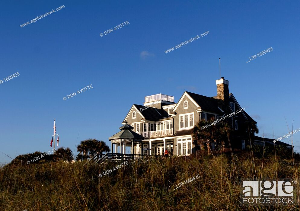 Stock Photo: Home on the beach in Crescent Beach, FL, USA.