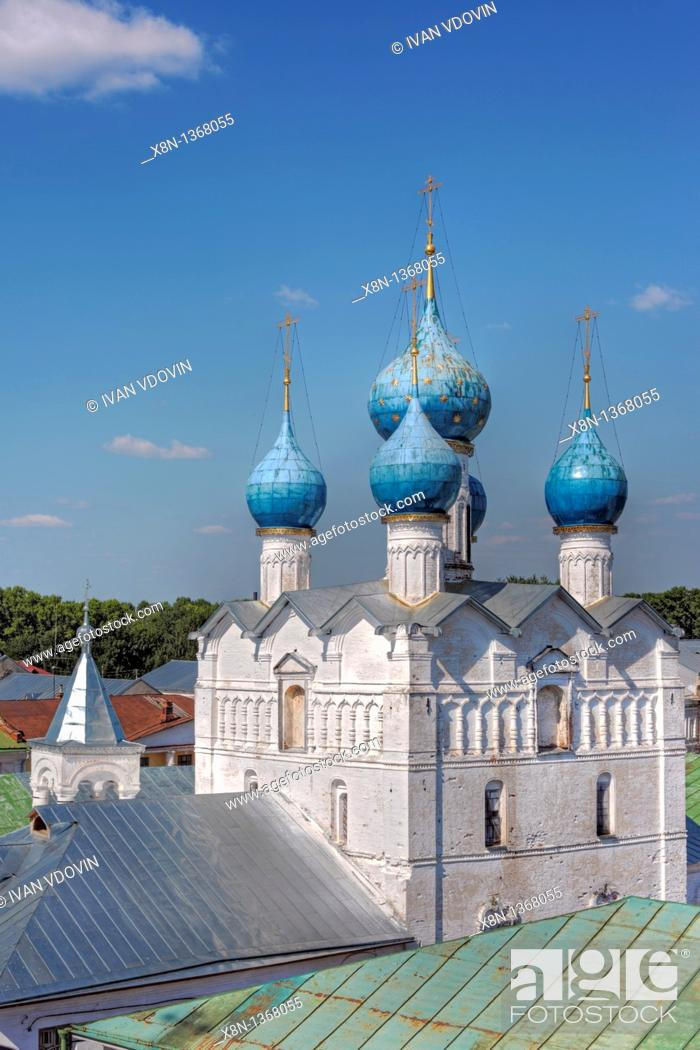 Stock Photo: Church of Saviour on market square 1690, Rostov, Yaroslavl region, Russia.