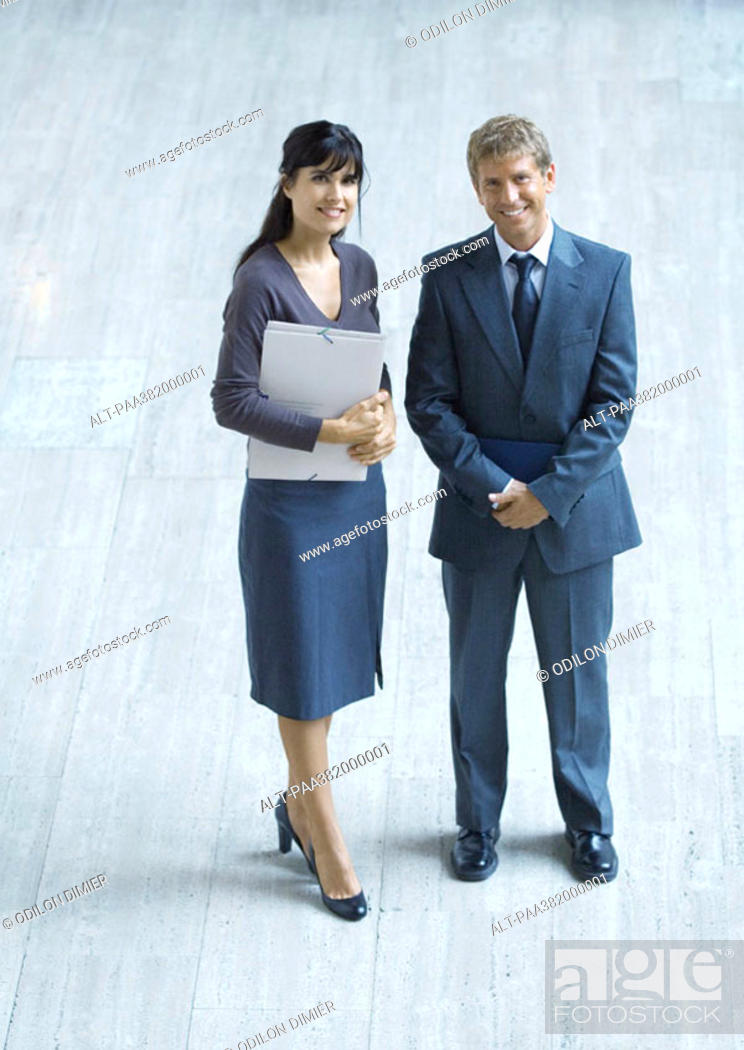 Stock Photo: Two business executives, full length.
