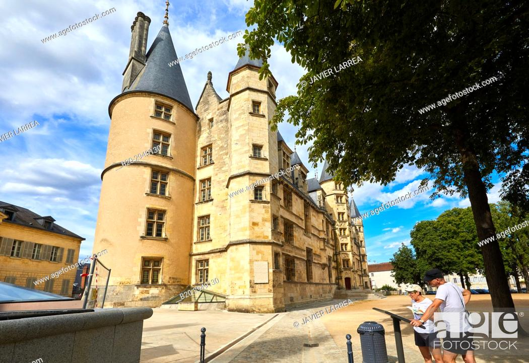 Stock Photo: The Palace of the Dukes, Palais Ducal, Nevers, Nievre, Bourgogne, France, Europe.