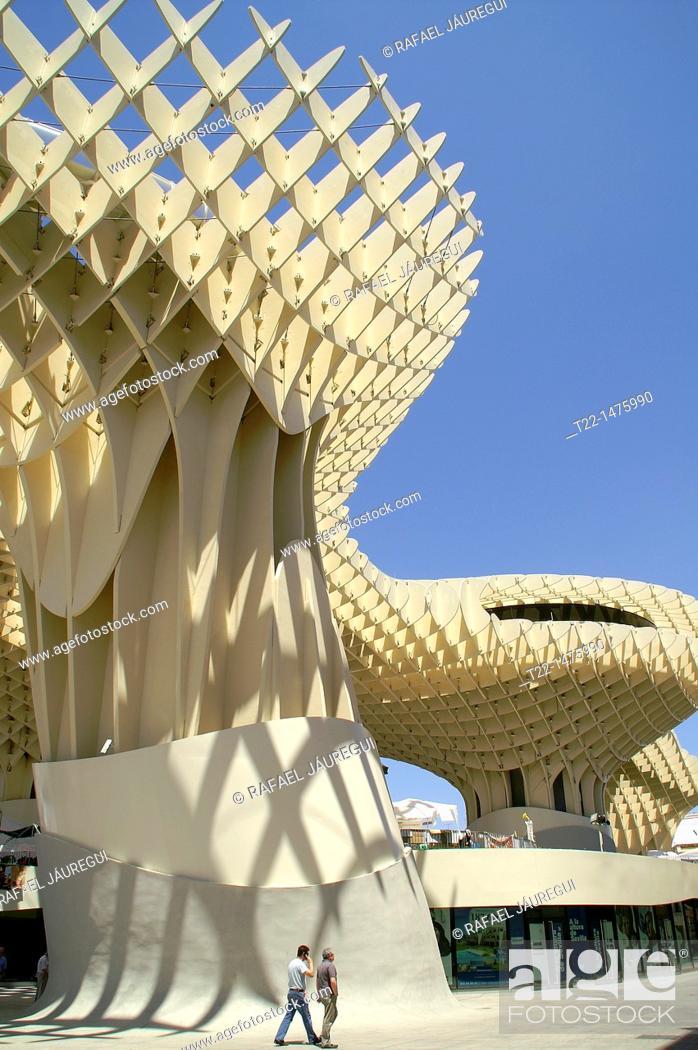 Stock Photo: Sevilla Spain  Metropol Parasol in the Plaza de la Encarnación in Seville.