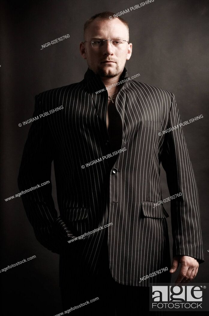 Stock Photo: Fashionable Man in Suit Jacket.
