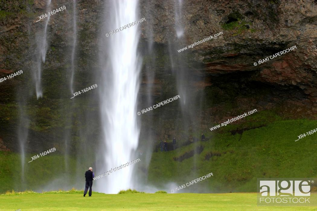 Stock Photo: Seljalandsfoss Waterfall, Iceland.