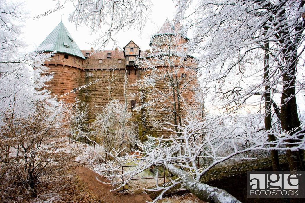 Stock Photo: Haut-Koenigsbourg Castle, Alsace, France.