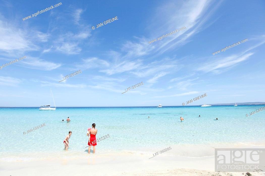 Stock Photo: Llevant beach, Formentera, Balearic Islands, Spain.