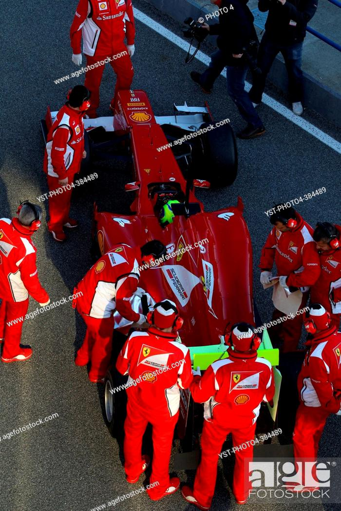 Stock Photo: Felipe Massa BRA, Scuderia Ferrari, F1 Testing Jerez de la Frontera, Spain 7-10 February 2012.