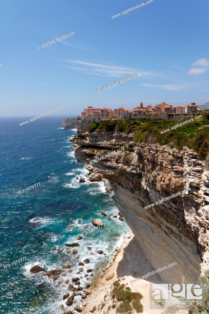 Stock Photo: France, Corsica, Corse-du-Sud Department, Corsica South Coast Region, Bonifacio.