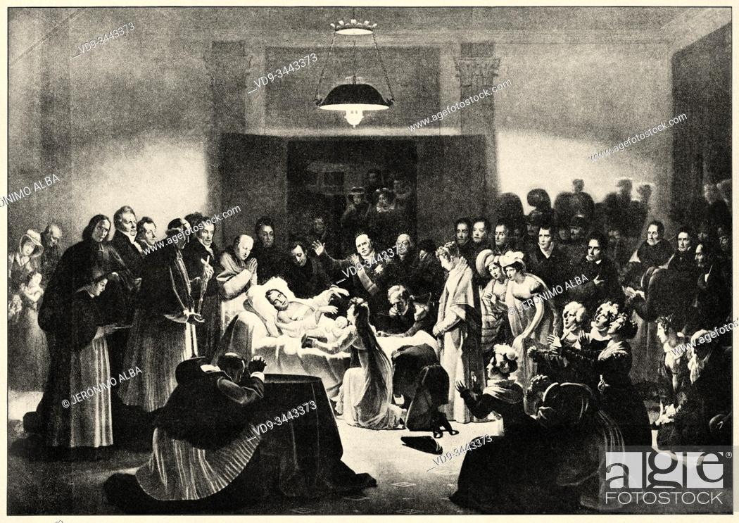 Photo de stock: Last moment of the Duke of Berry, nephew of King Louis XVIII and potential heir to the throne of France is murdered on the night of February 13-14.