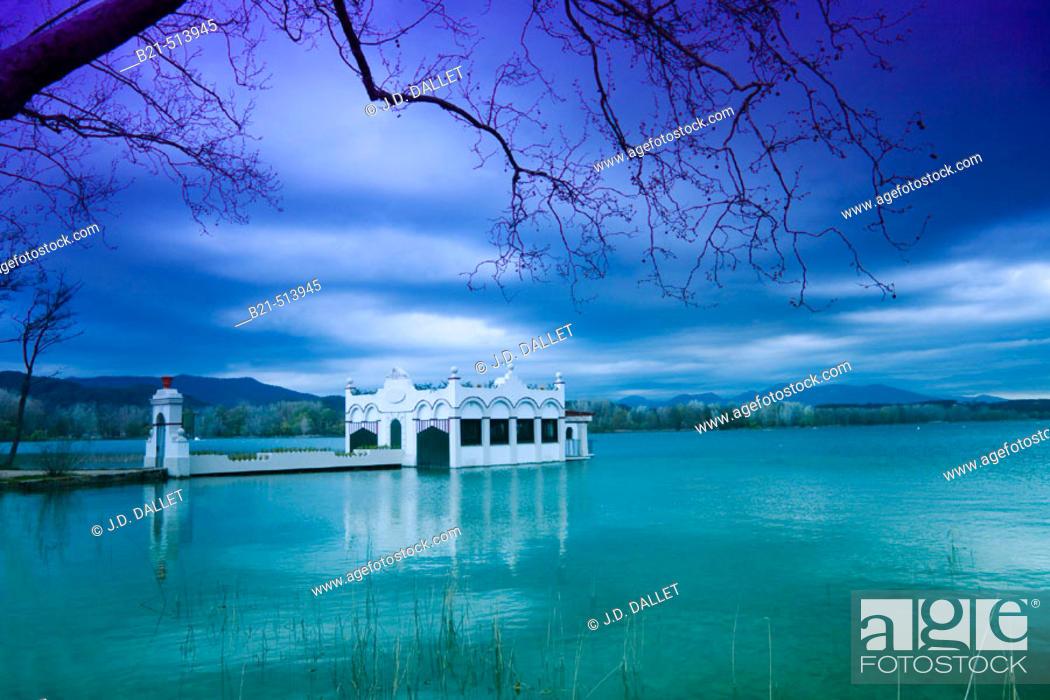 Stock Photo: Banyoles lake. Girona province, Catalonia, Spain.