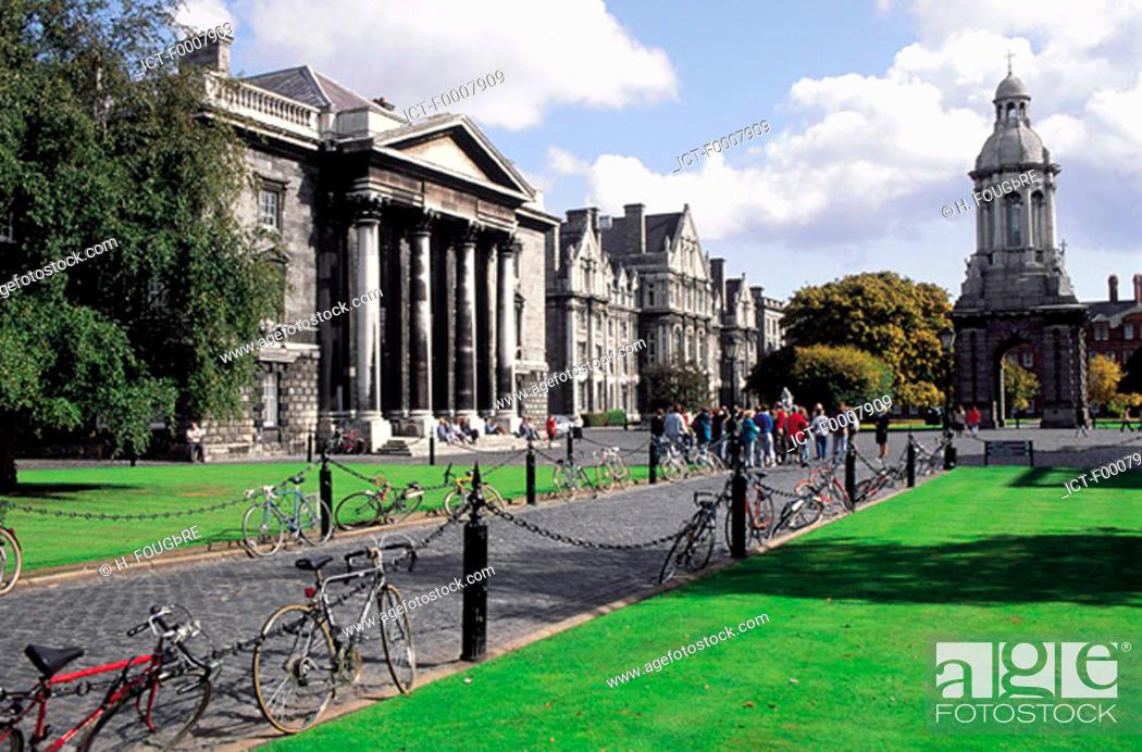 Stock Photo: Ireland, Dublin, Trinity College.