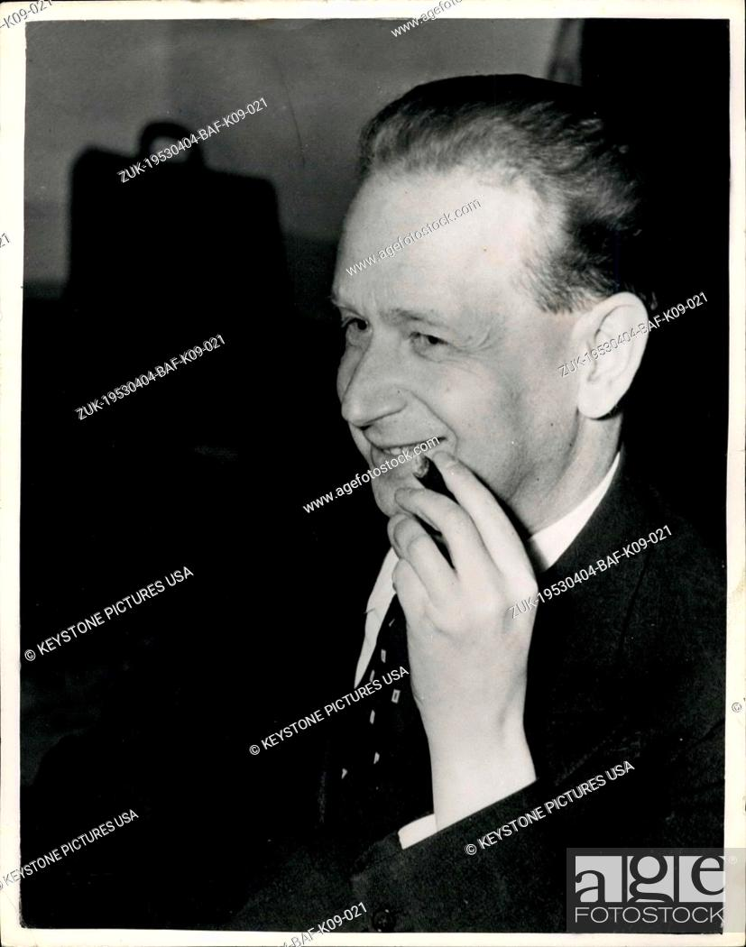 Imagen: Apr. 04, 1953 - New Secretary General of United Nations. Dr. Dag Hammarskj?ld. Dr. Dag Hammarskj?ld, Swedish Deputy Prime Minister has accepted the Security.