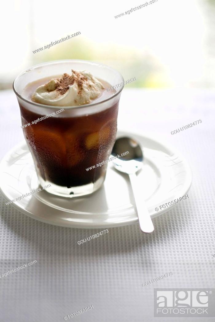 Stock Photo: Iced coffee.