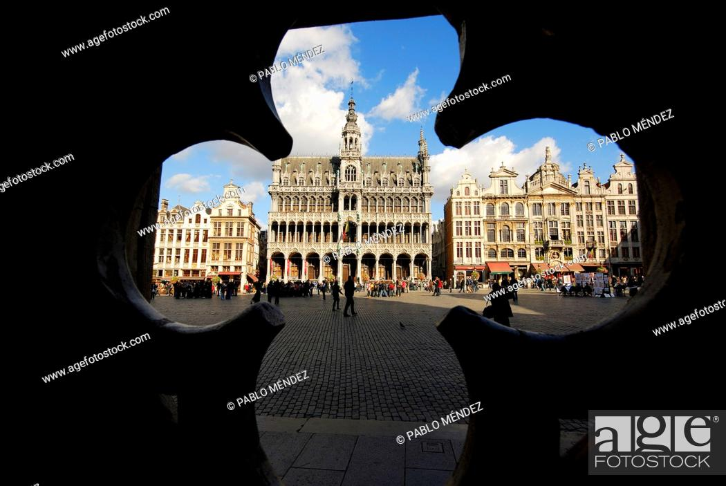 Stock Photo: Grand Place, Grote Markt or Big square of Brussels, Belgium.