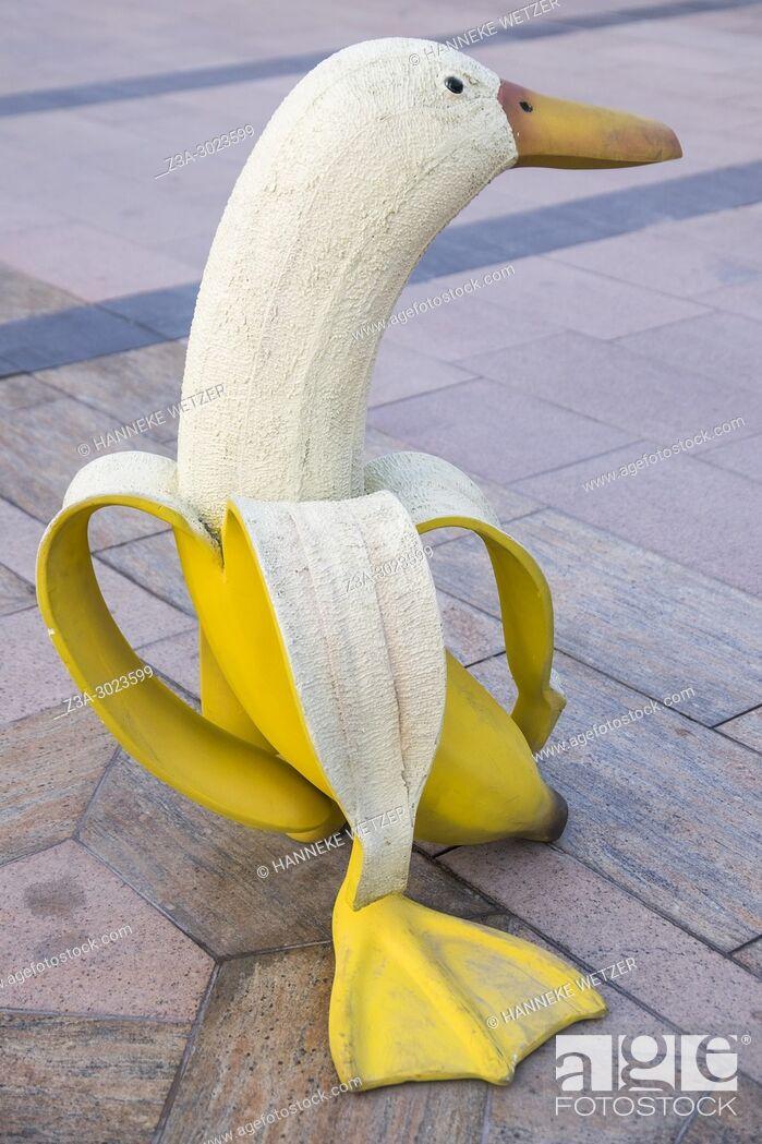 Stock Photo: Banana duck street art in Dubai.