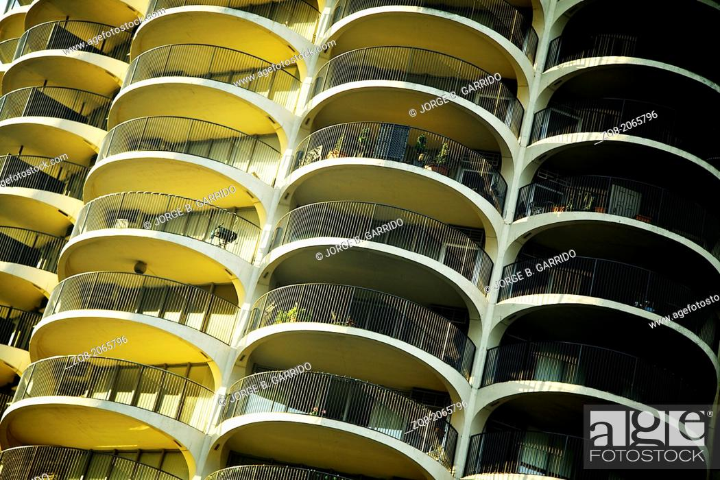 Stock Photo: Marina City Complex, Chicago, IL.