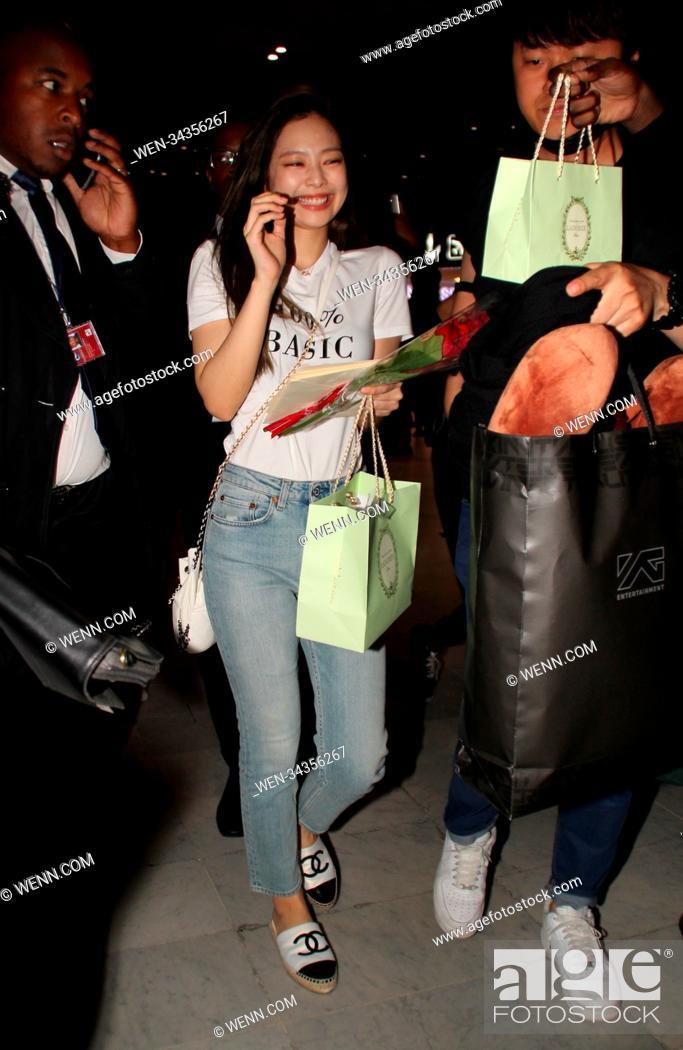 Jennie from Korean girl group BLACKPINK arrives at Charles
