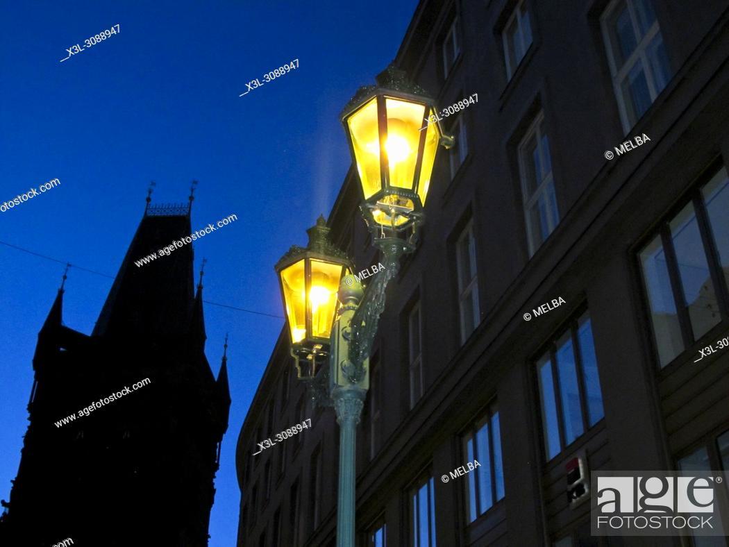 Stock Photo: Traditional street lamp. Prague. Czech republic.
