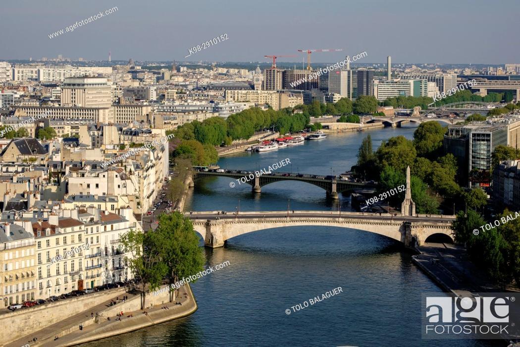 Stock Photo: Seine river, Paris, France.