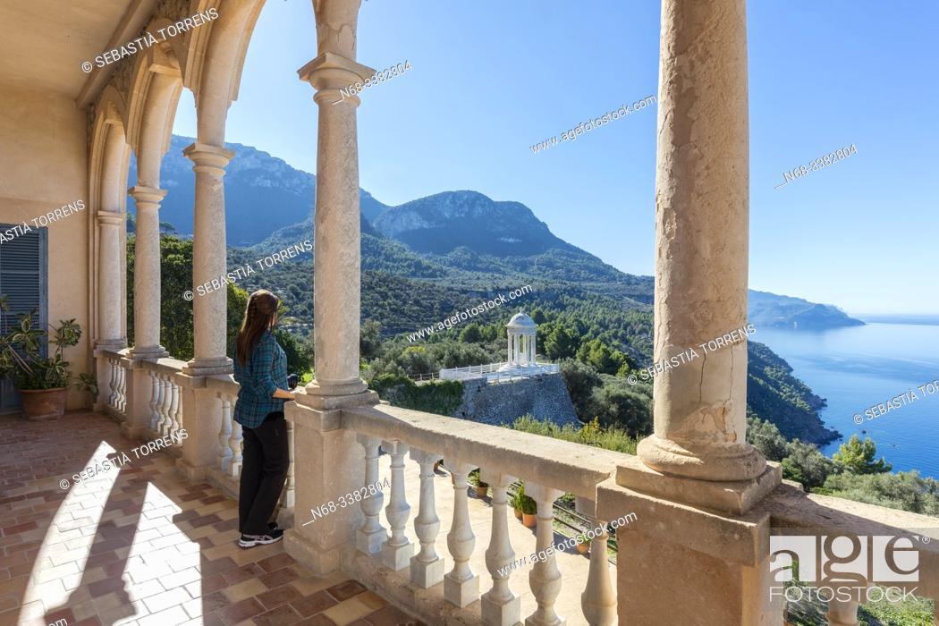 Stock Photo: View from Son Marroig, Deia, Majorca, Spain.