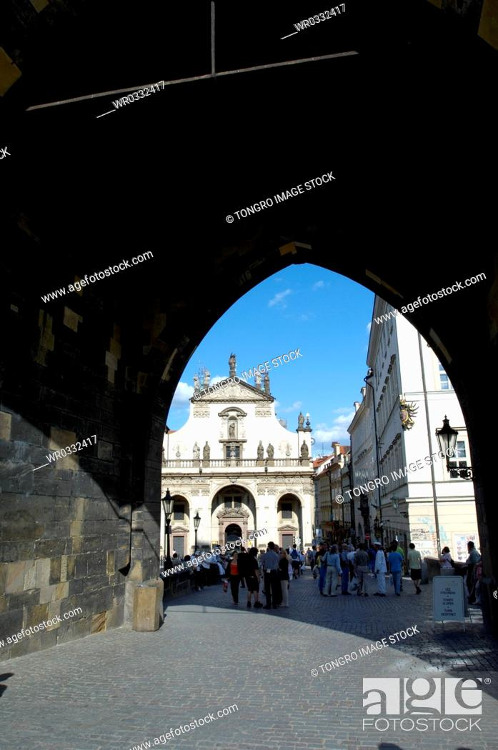 Stock Photo: Karlv Most in New Town of Prague, Czech.