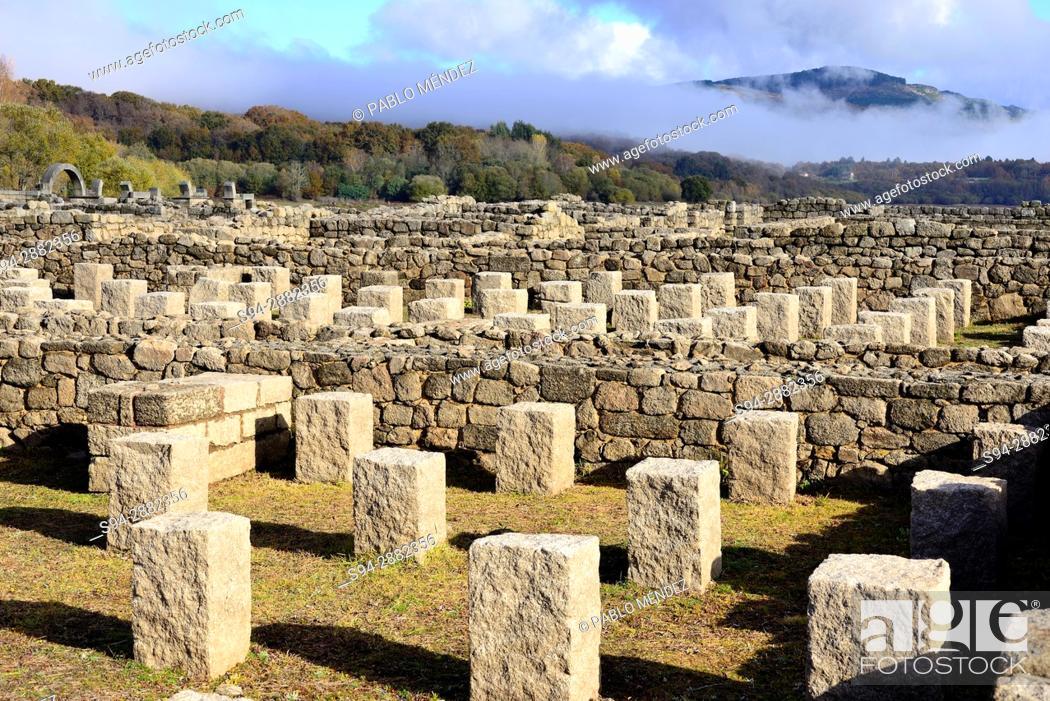 Stock Photo: Aquis Querquenis. Roman ruins near Bande, Orense, Spain.