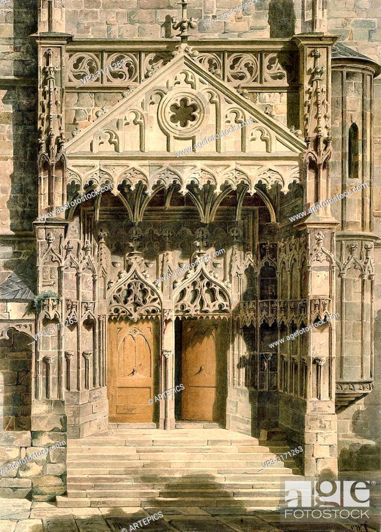 Stock Photo: Werner Carl Friedrich Heinrich - Hauptportal Der St Michaelis-Kirche in Jena.