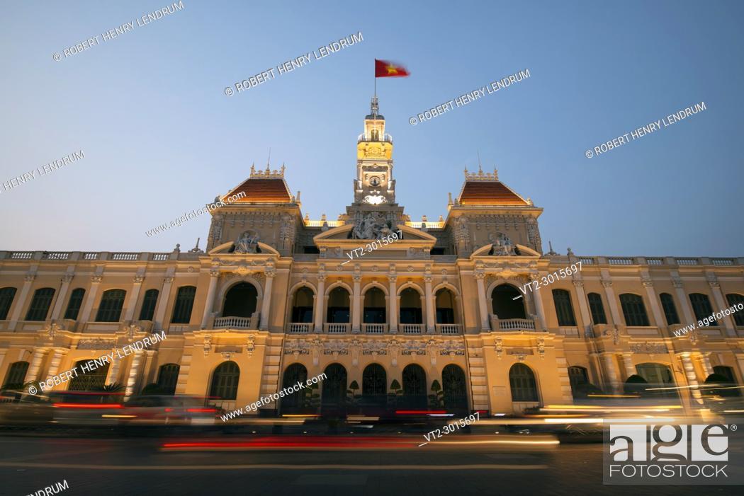 Stock Photo: City Hall, Ho Chi Minh, Vietnam.