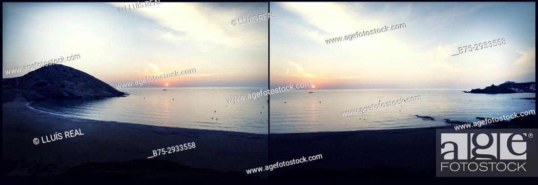Stock Photo: Sa Mesquida beach, Minorca, Balearic Islands, Spain.