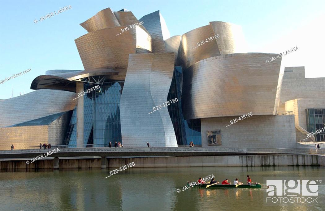Stock Photo: Guggenheim Museum. Bilbao. Bizkaia. Euskadi. Spain.