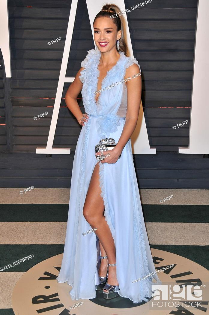 57c1899f30e Stock Photo - Jessica Alba at the 2017 Vanity Fair Oscar Party held at the Wallis  Annenberg Center for the Performing Arts in Beverly Hills