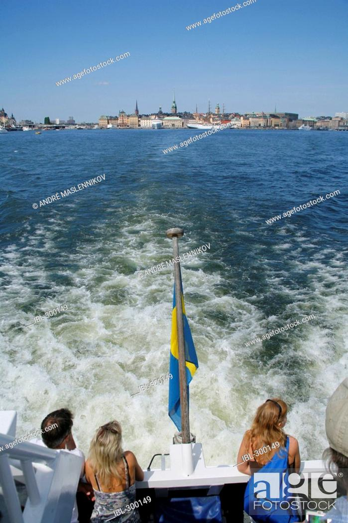 Stock Photo: Waxholm boat away from Stockholm.