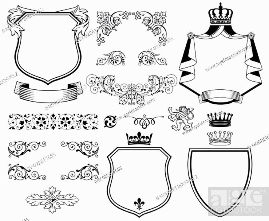 Stock Vector: Traditionelle Design Elemente.