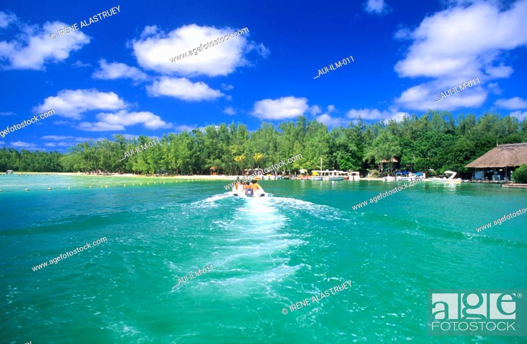 Stock Photo: Mauritius - East Region - Ile aux Cerfs - Island - landscape.