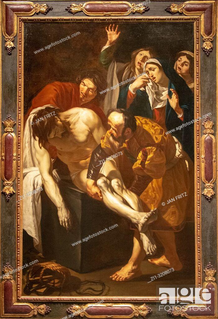 Stock Photo: The entombment of Christ from Dirck van Baburen.