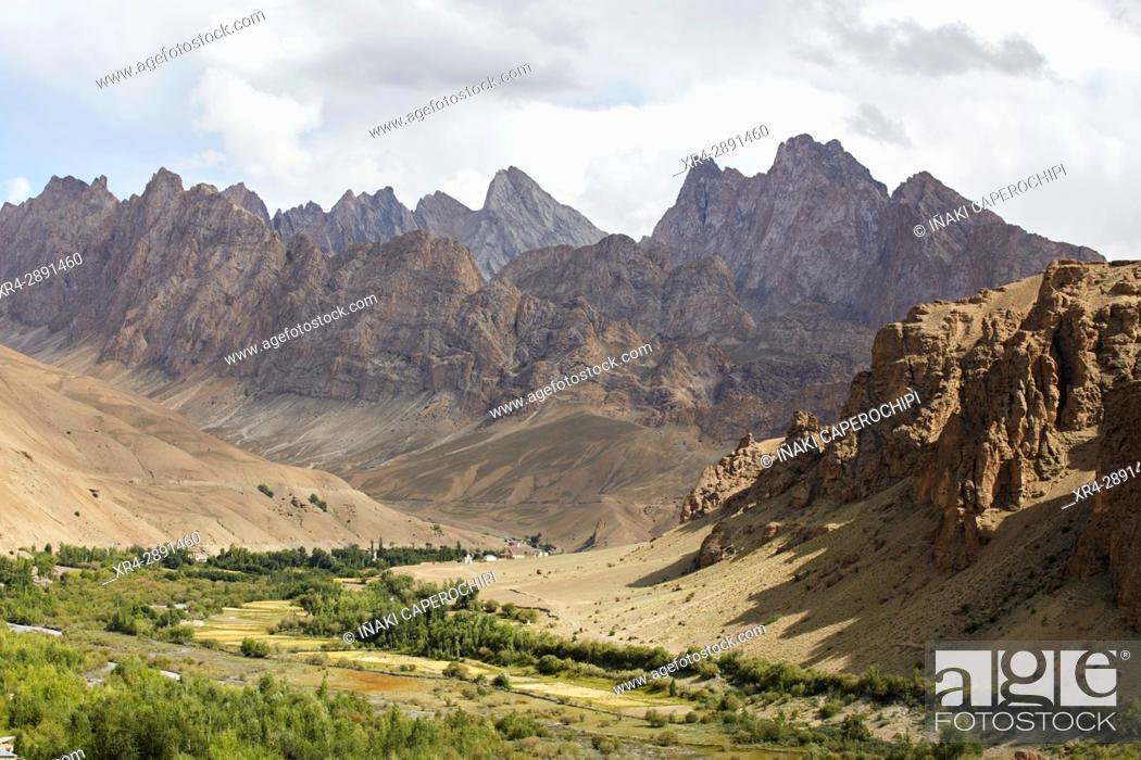 Stock Photo: Wakha Valley, Gyal, Ladakh, India.