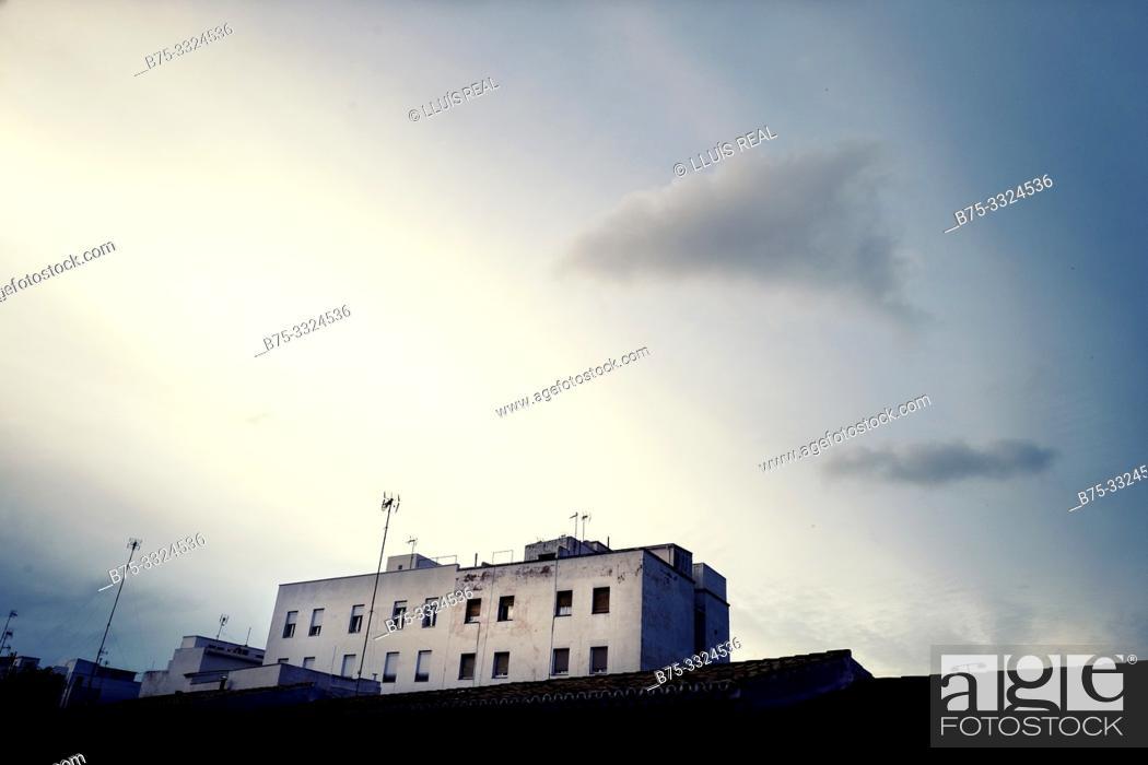 Stock Photo: Housing building, Mahon Menorca, Balearic Islands, Spain, Europe.