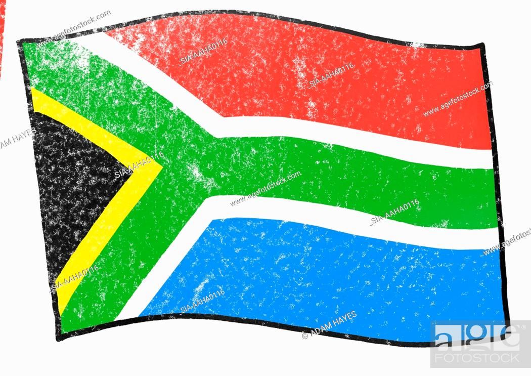 Imagen: View of flag of South Africa.