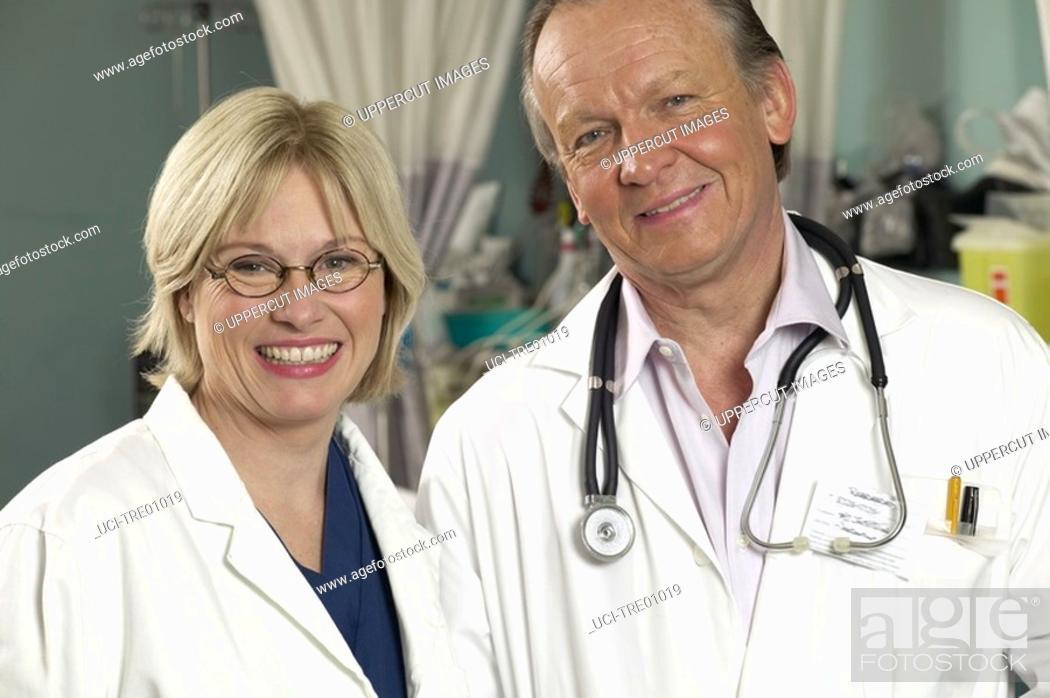 Stock Photo: Doctors standing.