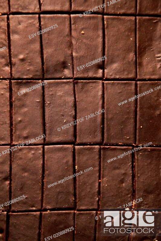 Stock Photo: Chocolate cake food background.