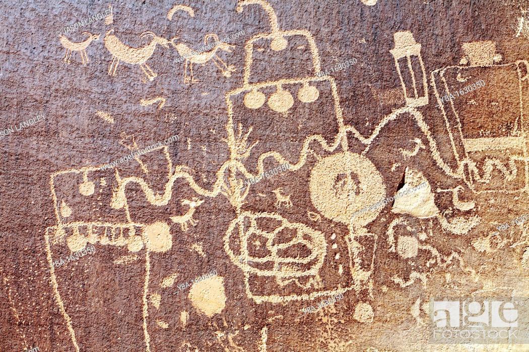 Native American Petroglyphs Utah Highway 211 Near Canyonlands