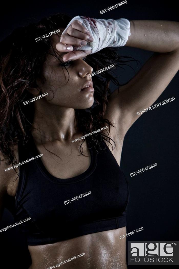 Stock Photo: Sexy wet skin.